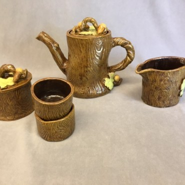 Oak Tea Set